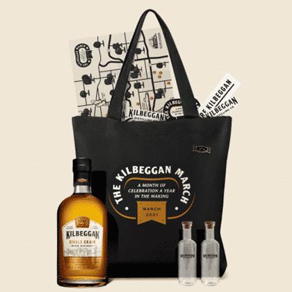 The Kilbeggan Irish Whiskey March Philadelphia swag on the Philadelphia Globe